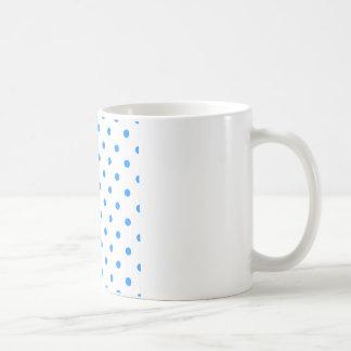 Pequeños lunares - azul de Dodger en blanco Taza De Café