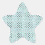Pequeños lunares de Brown en fondo azul Calcomanía Forma De Estrella Personalizadas