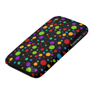 Pequeños lunares del arco iris Case-Mate iPhone 3 protector