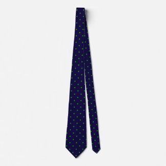 Pequeños lunares verdes en azules marinos de corbatas personalizadas