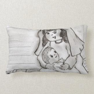 Pequeños Maria y bebé Jesús - bosquejo Almohada