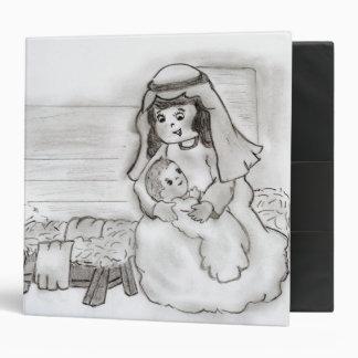 Pequeños Maria y bebé Jesús