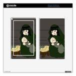 Pequeños Maria y bebé Jesús en verde Pegatinas Skins Para Kindle Fire