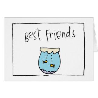 pequeños mejores amigos de wobblies tarjeta pequeña