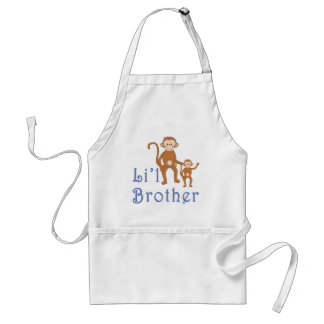 Pequeños monos lindos 2 de Brother Delantal