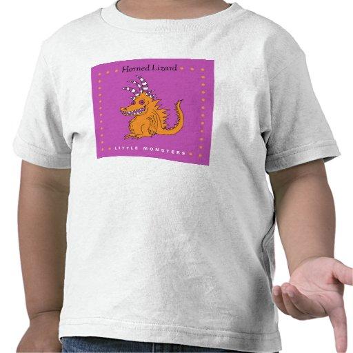 Pequeños monstruos, lagarto de cuernos camiseta