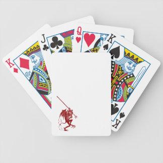 Pequeños naipes del póker del atrevimiento del dia barajas