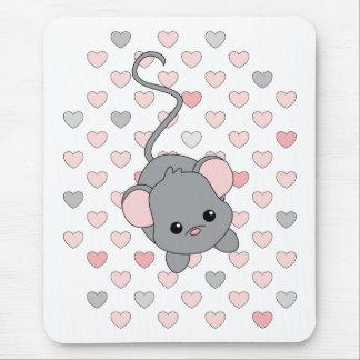 Pequeños oídos rosados alfombrilla de ratón