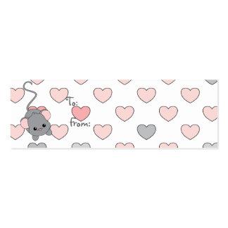 Pequeños oídos rosados plantilla de tarjeta personal