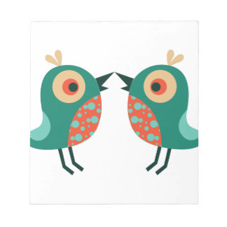 Pequeños pájaros bloc