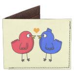 pequeños pájaros lindos del amor billeteras tyvek®