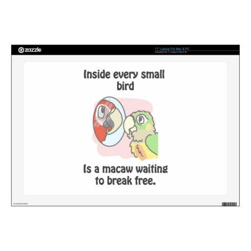 Pequeños pájaros portátil calcomanía