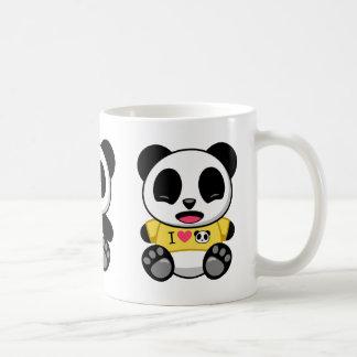 Pequeños panda lindos taza básica blanca
