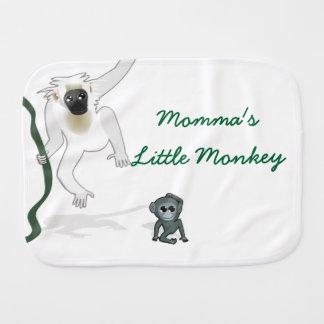 Pequeños paños del Burp del mono de Mommas Paños Para Bebé