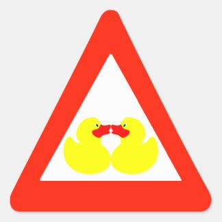 Pequeños patos del amarillo (TBA) Colcomanias Triangulo Personalizadas