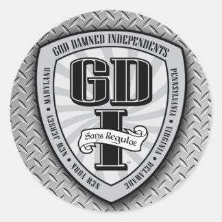 Pequeños pegatinas de GDI Pegatina Redonda
