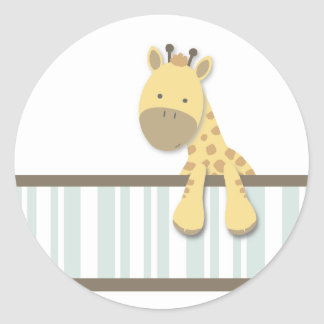 Pequeños pegatinas de la jirafa {trullo} el | etiqueta redonda
