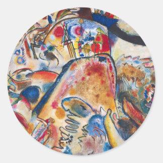 Pequeños pegatinas de los placeres de Kandinsky Pegatina Redonda