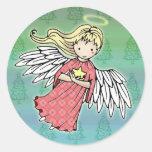 Pequeños pegatinas del ángel del navidad