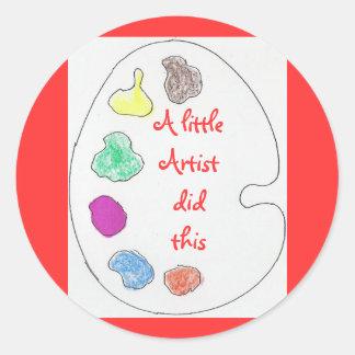 Pequeños pegatinas del artista pegatina redonda