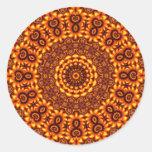Pequeños pegatinas del diseño de la diosa pegatinas redondas