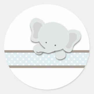 Pequeños pegatinas del elefante el azul