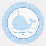 Pequeños pegatinas del favor de la ballena azul 3