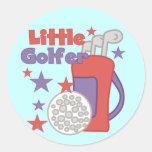 Pequeños pegatinas del golfista etiqueta redonda