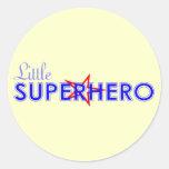 Pequeños pegatinas del super héroe pegatinas redondas