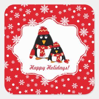 Pequeños pegatinas divertidos del navidad de los pegatina cuadrada