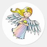 Pequeños pegatinas dulces del ángel pegatinas redondas