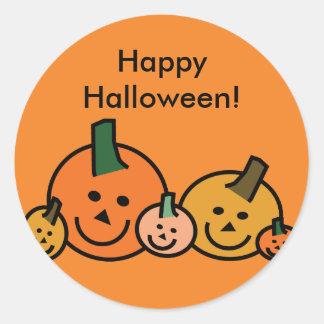 Pequeños pegatinas felices de Halloween de las Pegatina Redonda