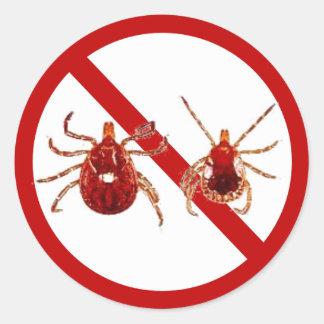 Pequeños pegatinas, señal de la enfermedad de Lyme Pegatinas Redondas