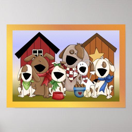Pequeños perritos póster