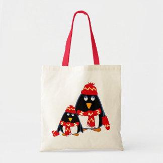 Pequeños pingüinos lindos. Bolso del regalo del Bolsa Tela Barata