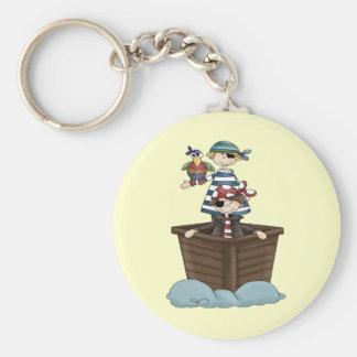Pequeños piratas llavero redondo tipo pin