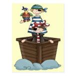 Pequeños piratas postal