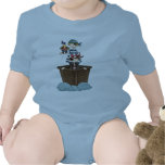 Pequeños piratas trajes de bebé