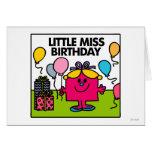 Pequeños presentes y globos de Srta. Birthday el | Tarjeta De Felicitación