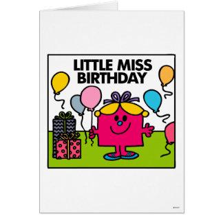 Pequeños presentes y globos de Srta. Birthday el | Tarjeta Pequeña