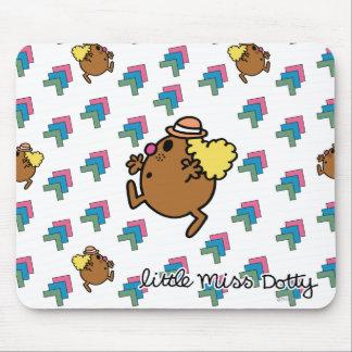 Pequeños puntos coloridos de Srta. Dotty el   Tapetes De Ratón