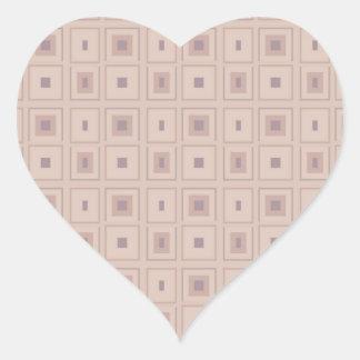Pequeños puntos llanos pegatina en forma de corazón