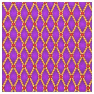 Pequeños rombos (púrpuras/rojo) telas