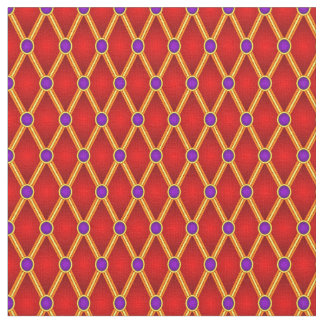Pequeños rombos rojos/púrpura telas