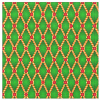 Pequeños rombos (verde/rojo) telas