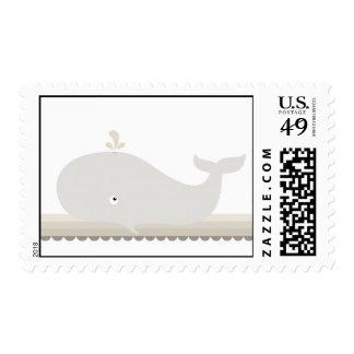 Pequeños sellos de la ballena {Brown} el |