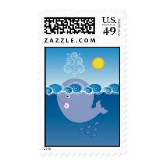 Pequeños sellos de la ballena