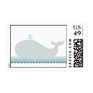 Pequeños sellos de la ballena {trullo} el |