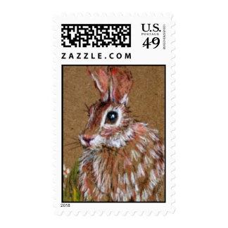 Pequeños sellos del conejo de Brown