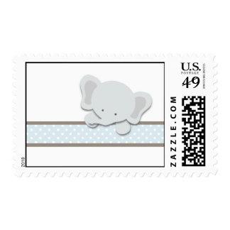Pequeños sellos del elefante el azul